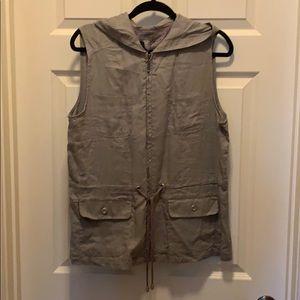 KENAR Ladies Linen Hooded Vest
